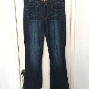 Lucky Brand Sofia Boot Jeans 14 32 Dark Wash